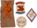 Political:Small Miscellaneous (1896-present), Theodore Roosevelt and Alton Parker: Colorful Embroidered Patches.... (Total: 9 Items)