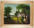 Antiques:Decorative Americana, George Washington: Folk Art Painting of Mt. Vernon....