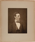 Photography:Studio Portraits, Abraham Lincoln: George Ayres Reprint of Hesler Portrait.... (Total: 2 Items)