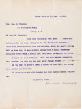 Theodore Roosevelt: 1901 TLS Re: His Winchester Rifle