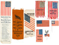 Political:Ribbons & Badges, Benjamin Harrison: Flag Motif Badges and Ribbons.... (Total: 9 Items)