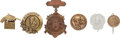 Political:Tokens & Medals, Benjamin Harrison: Assorted Shell Badges.... (Total: 6 Items)