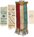 Political:Ribbons & Badges, Benjamin Harrison: Four Ribbons.... (Total: 4 Items)
