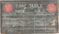 Antiques:Antiquities, Vintage Wooden Missouri Pacific Lines Railroad Timetable Chalk Board....