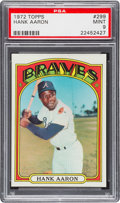 Baseball Cards:Singles (1970-Now), 1972 Topps Hank Aaron #299 PSA Mint 9....