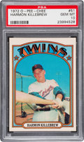 Baseball Cards:Singles (1970-Now), 1972 O-Pee-Chee Harmon Killebrew #51 PSA Gem Mint 10. ...