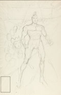 Original Comic Art:Miscellaneous, Vince Argondezzi Infinity, Inc. #48 Cover PreliminaryOriginal Art (DC, 1988)....