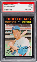 Baseball Cards:Singles (1970-Now), 1971 Topps Maury Wills #385 PSA Mint 9. ...