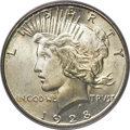 Peace Dollars, 1928-S $1 MS65+ PCGS Secure. CAC....
