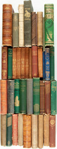 Books:Literature Pre-1900, [Fiction, Art, Biography, Humor]. Group of Thirty-Nine NineteenthCentury Titles. Various publisher's and dates.... (Total: 39 Items)