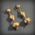 Pre-Columbian:Metal/Gold, PAIR OF CHIMU GOLD EARRINGS... (Total: 2 Items)