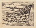 Texas:Early Texas Art - Drawings & Prints, ALEXANDRE HOGUE (American, 1898-1994). Liberators, 1943.Lithograph. 11-1/2 x 15-1/8 inches (29.2 x 38.4 cm). Initialed ...