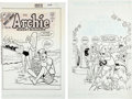 Original Comic Art:Covers, Stan Goldberg - Archie Digest Comics Cover Original Art Group(Archie Comics, 1995-2002).... (Total: 2 Original Art)