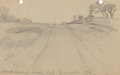 Texas:Early Texas Art - Drawings & Prints, JULIAN ONDERDONK (American, 1882-1922). Shook Avenue at Moody'sGate, from nature, 1912. Pencil on paper. 4-1/2 x 7 inch...