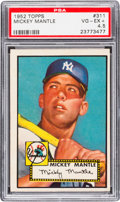 Baseball Cards:Singles (1950-1959), 1952 Topps Mickey Mantle #311 PSA VG-EX+ 4.5....