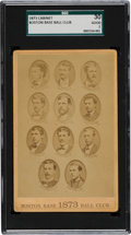 Baseball Cards:Singles (Pre-1930), Rare 1873 Boston Base Ball Club Team Cabinet Card SGC 30 Good 2....