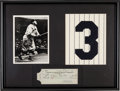 Autographs:Checks, 1937 Babe Ruth Signed Check, PSA/DNA NM-MT 8....