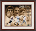 Football Collectibles:Photos, 2010's Archie, Peyton and Eli Manning Signed Large Photograph....