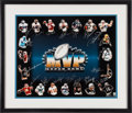 Football Collectibles:Photos, 2000's Super Bowl MVP Lithograph Signed by 20....