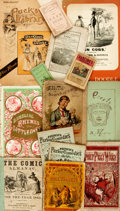 Miscellaneous:Ephemera, [Americana]. Lot of Various Ephemera, Mostly Americana. Variouspublishers and dates. ... (Total: 13 Items)