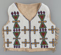American Indian Art:Beadwork and Quillwork, A Blackfoot Beaded Hide Vest . c. 1900...