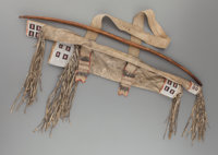 A CENTRAL PLAINS BEADED HIDE BOWCASE AND QUIVER c. 1870