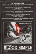 """Movie Posters:Thriller, Blood Simple (Circle Films, 1984). Poster (24"""" X 36.5""""). Thriller....."""
