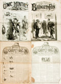 Books:Periodicals, [Periodical]. Group of Miscellaneous Comic Newspapers. Variouspublishers and dates, circa 1853-1875. Total of eight issues ...