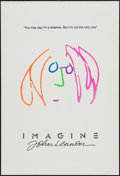 """Movie Posters:Rock and Roll, Imagine: John Lennon (Warner Brothers, 1988). One Sheet (27"""" X 41"""")Pink Hair Style. Rock and Roll.. ..."""
