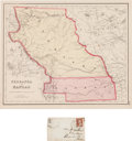 Miscellaneous:Maps, Nebraska & Kansas: A Scarce Hand-colored 1855 Map by J.H.Colton & Co....