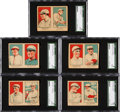 Baseball Cards:Sets, 1921 W551 Baseball Complete Set (10) In Uncut Pairs. ...