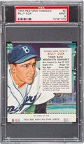 Baseball Cards:Singles (1950-1959), 1954 Red Man Billy Cox #2 PSA Mint 9 - Pop Two, None Higher. ...