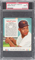 Baseball Cards:Singles (1950-1959), 1954 Red Man Monte Irvin #5 PSA Mint 9 - Pop Two, None Higher. ...