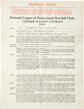 Baseball Collectibles:Others, 1944 Stan Musial Signed St. Louis Cardinals Uniform Player'sContract....