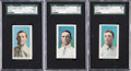 Baseball Cards:Lots, 1910-11 M116 Sporting Life Blue Backgrounds SGC Trio (3). ...