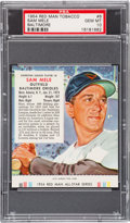 Baseball Cards:Singles (1950-1959), 1954 Red Man Sam Mele/Baltimore #6 PSA Gem MT 10 - The Ultimate PSAExample!...