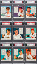Baseball Cards:Lots, 1952 Red Man With Tabs PSA Collection (9) ...