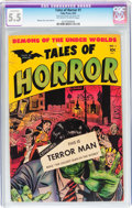 Golden Age (1938-1955):Horror, Tales of Horror #1 (Toby Publishing, 1952) CGC Conserved FN- 5.5Off-white to white pages....