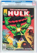Magazines:Superhero, The Rampaging Hulk #1 (Marvel, 1977) CGC NM+ 9.6 Off-white to white pages....
