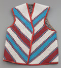 American Indian Art:Beadwork and Quillwork, A BLACKFOOT PICTORIAL BEADED HIDE VEST. c. 1890...