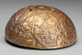 Pre-Columbian:Metal/Gold, CHIMU GOLD BOWL WITH REPOUSSE ANIMALS...