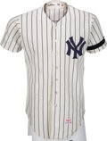 Baseball Collectibles:Uniforms, 1978-79 Graig Nettles Game Worn New York Yankees Jersey with Munson Armband, MEARS A10....