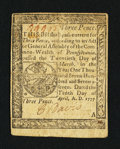 Colonial Notes:Pennsylvania, Pennsylvania April 10, 1777 3d Very Fine-Extremely Fine.. ...