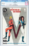 Modern Age (1980-Present):Science Fiction, V #10 (DC, 1985) CGC NM/MT 9.8 White pages....