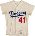 Baseball Collectibles:Uniforms, 1970 Ted Sizemore Game Worn Los Angeles Dodgers Jersey. ...