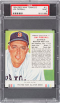 Baseball Cards:Singles (1950-1959), 1954 Red Man Jimmy Piersall #11 PSA MINT 9 - Pop Two, None Higher....