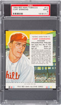 Baseball Cards:Singles (1950-1959), 1954 Red Man Curt Simmons #12 PSA MINT 9 - Pop Two, None Higher....