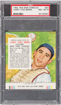 Baseball Cards:Singles (1950-1959), 1954 Red Man Yogi Berra #20 PSA NM-MT 8 - None Higher. ...