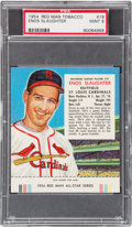 Baseball Cards:Singles (1950-1959), 1954 Red Man Enos Slaughter #19 PSA MINT 9 - Pop One, None Higher!...