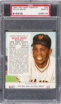 Baseball Cards:Singles (1950-1959), 1954 Red Man Willie Mays #25 PSA MINT 9 - The Highest GradedExample! ...